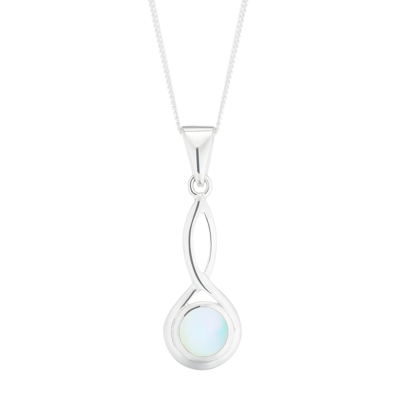 Silver Mother-Of-Pearl Infinity Drop Pendant - Product number 5947022