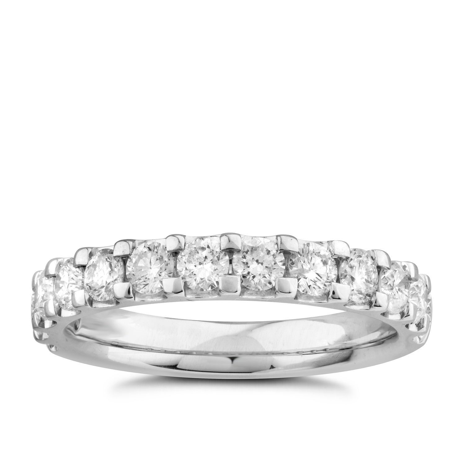 9ct White Gold 1ct Diamond Eternity Ring - Product number 5949459