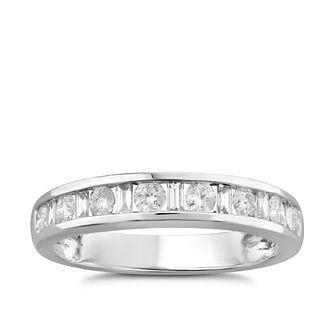 9ct White Gold 1/2ct Diamond Eternity Ring - Product number 5949599