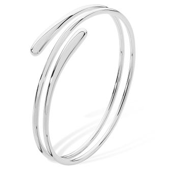 Lucy Quartermaine Silver 925 Coil Drop Bangle - Product number 5952093