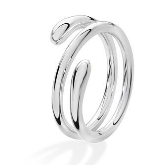 Lucy Quartermaine Silver 925 Coil Drop Ring - Product number 5952115
