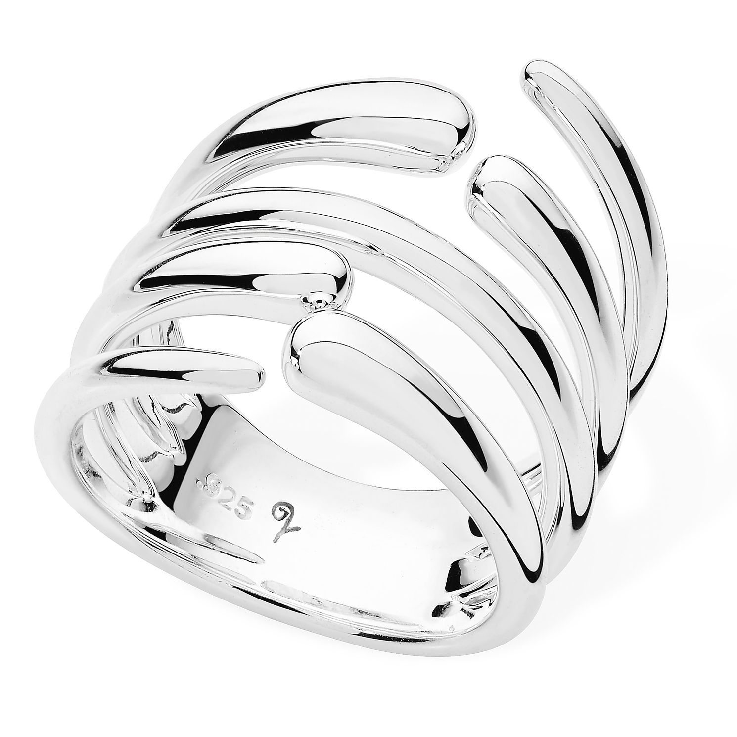Lucy Quartermaine Silver 925 Multi Drop Ring - Product number 5952263