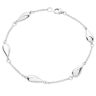 Lucy Quartermaine Silver 925 Station Tear Drop Bracelet - Product number 5953138