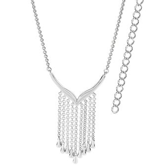 Lucy Quartermaine Silver 925 Waterfall V Necklace - Product number 5953197