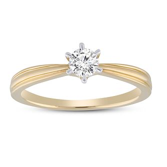 18ct Yellow Gold 1/4ct Diamond Solitaire Ring - Product number 5954533