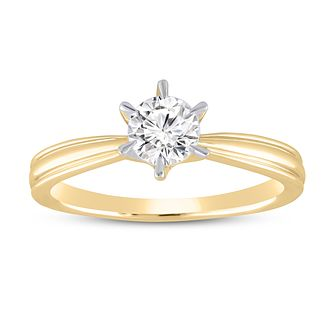 18ct Gold 1/2ct Diamond Solitaire Ring - Product number 5955297