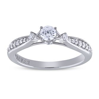 The Forever Diamond Platinum 0.33ct Diamond Solitaire Ring - Product number 5956048