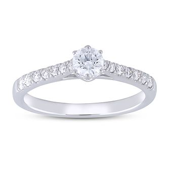 The Forever Diamond 18ct White Gold 1/2ct Diamond Ring - Product number 5956218