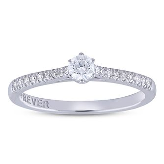 The Forever Diamond 18ct White Gold 1/4ct Diamond Ring - Product number 5956765