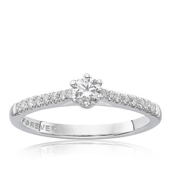 The Forever Diamond 18ct White Gold 0.33ct Diamond Ring - Product number 5958253