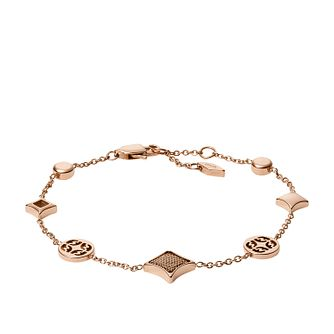Fossil Classics Rose Gold Tone Signature Bracelet - Product number 5959713