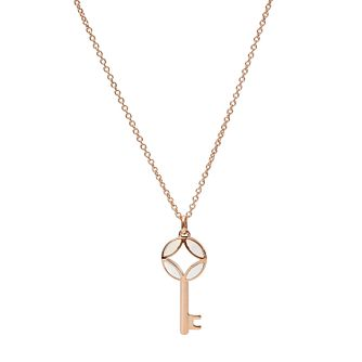 Fossil Classics Rose Gold Tone Key Necklace - Product number 5959764