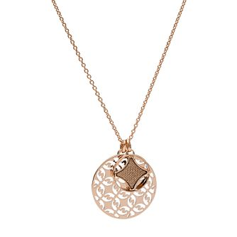 Fossil Classics Rose Gold Tone Duo Signature Necklace - Product number 5959772