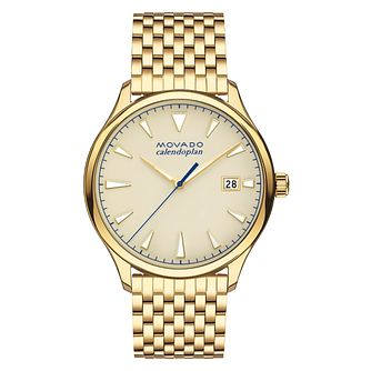 Movado Heritage Men's Gold Plated Bracelet Watch - Product number 5962161