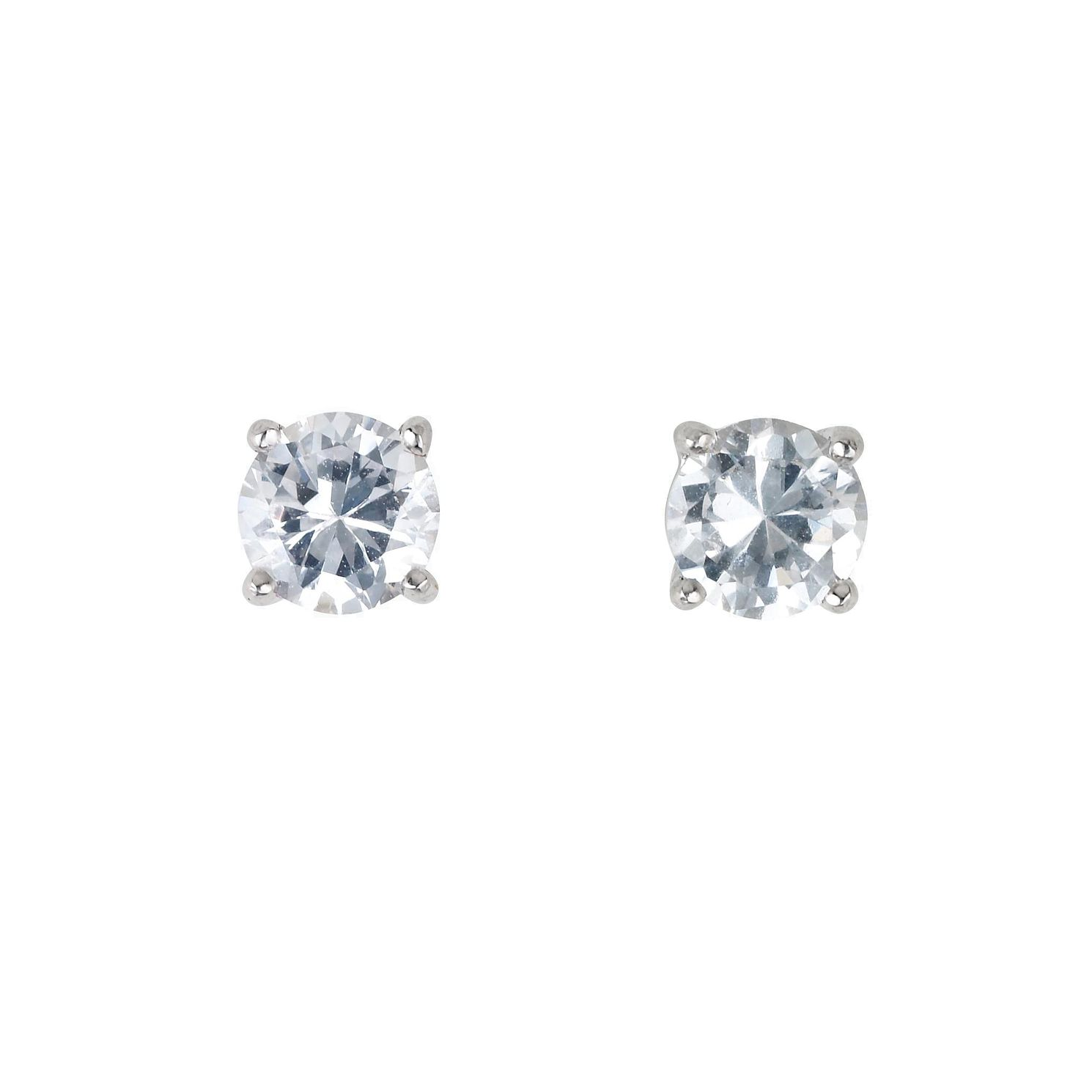 18ct White Gold Two Thirds Of A Carat Diamond Stud Earrings - Product number 5972582