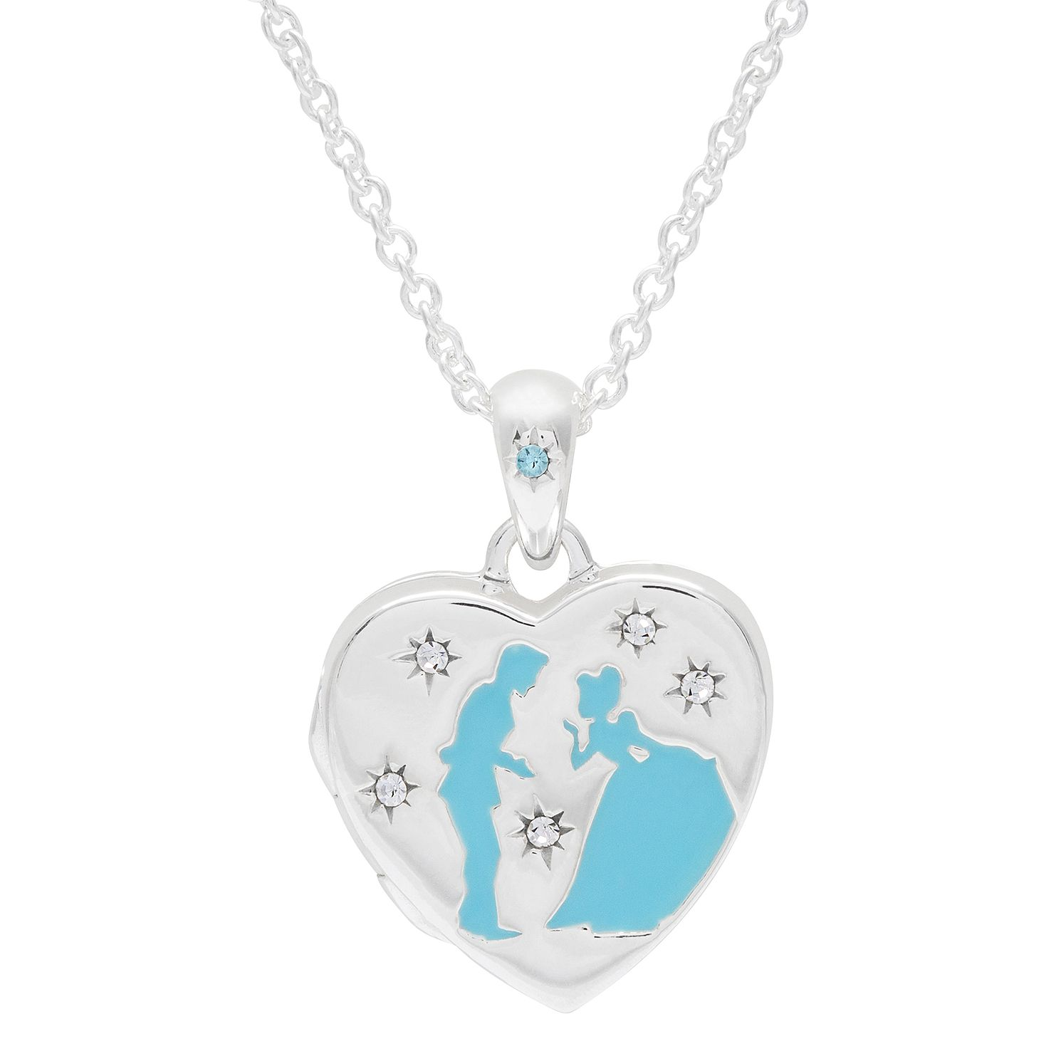 Disney Children's Cinderella Silver Crystal Heart Locket - Product number 6003737
