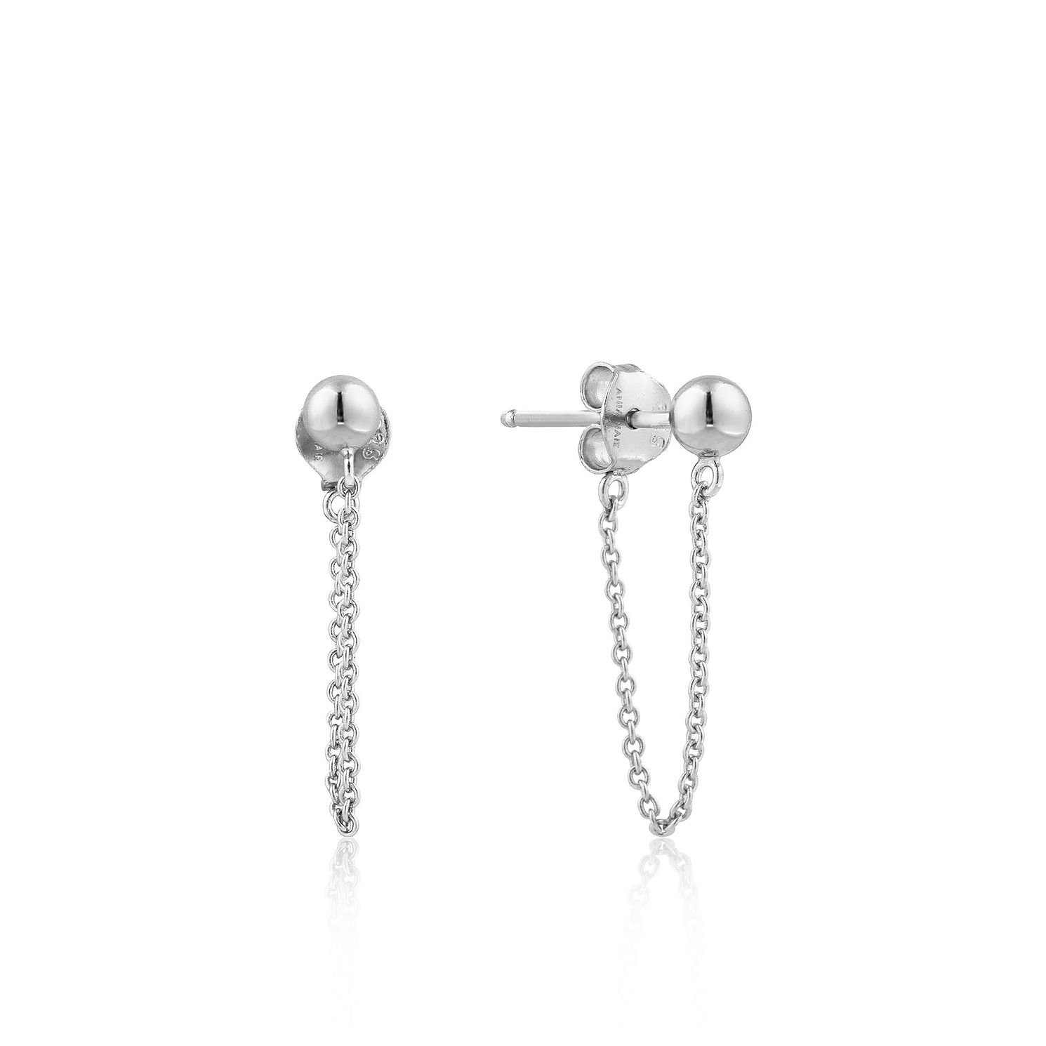 Ania Haie Sterling Silver Modern Chain Stud Earrings - Product number 6006876