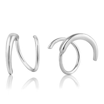 Ania Haie Sterling Silver Twist Stud Earrings - Product number 6006914