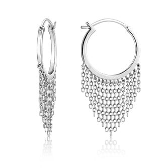 Ania Haie Sterling Silver Fringe Fall Hoop Earrings - Product number 6006949