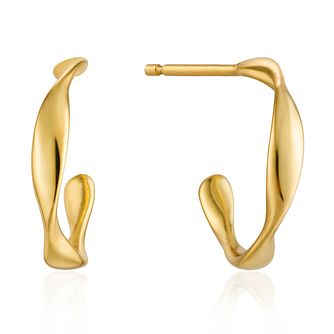 Ania Haie 14ct Yellow Gold Plated Twist Mini Hoop Earrings - Product number 6006965
