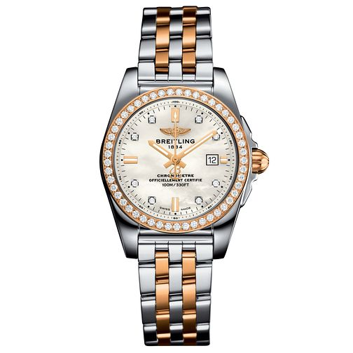 Breitling Galactic 29 Ladies' Two-Tone Bracelet Watch - Product number 6007082