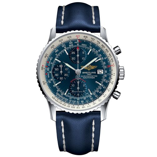Breitling Navitimer Heritage Men's Blue Leather Strap Watch - Product number 6007112