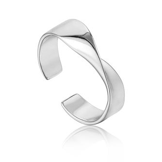 Ania Haie Sterling Silver Helix Adjustable Ring - Product number 6007155