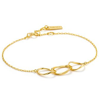 Ania Haie 14ct Yellow Gold Plated Swirl Nexus Bracelet - Product number 6007295