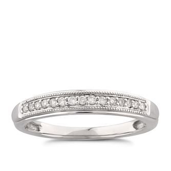9ct White Gold Diamond Perfect Fit Band Ring - Product number 6008100