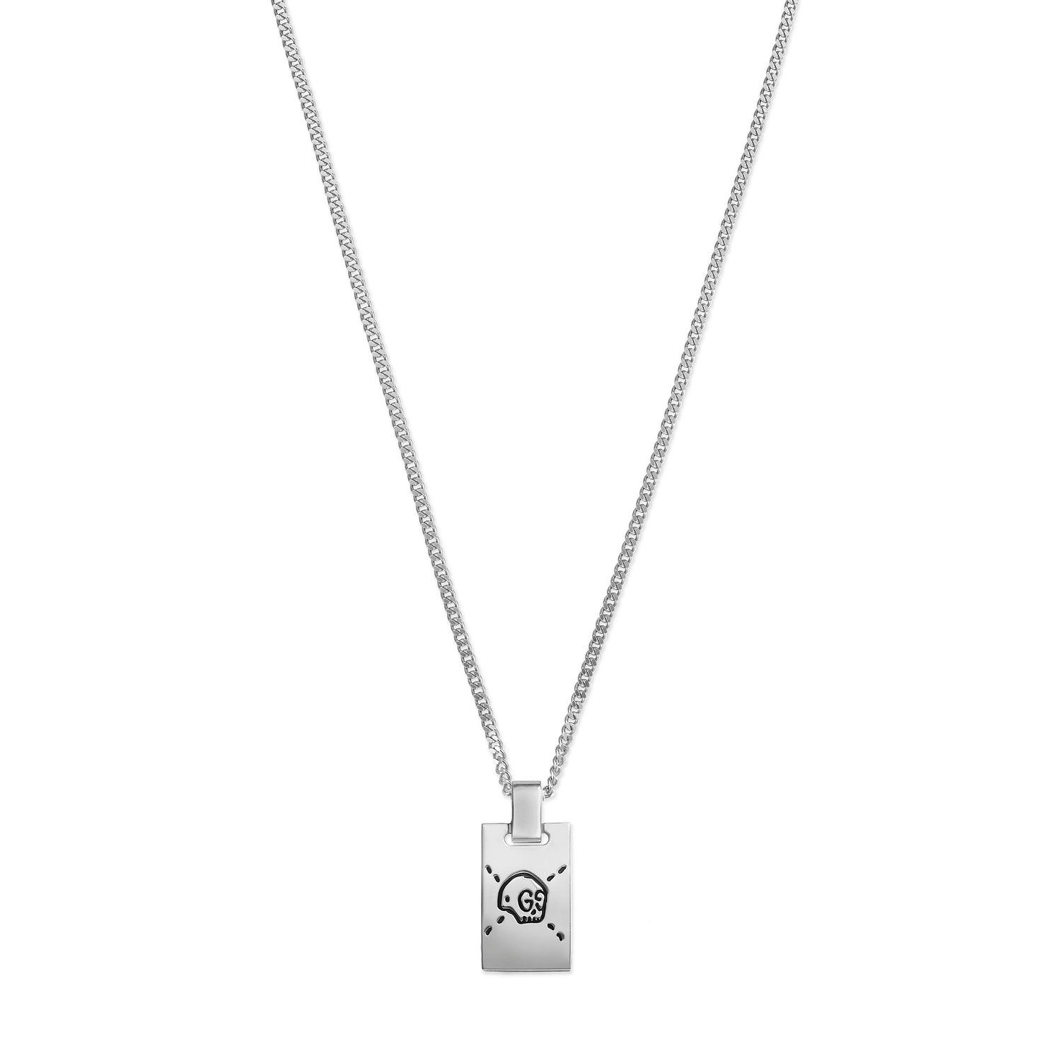 Gucci Ghost Sterling Silver Dogtag Pendant - Product number 6008631