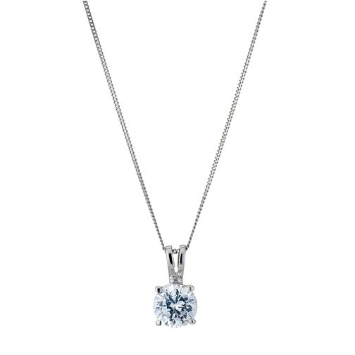 Platinum 1ct G/H SI1 solitaire pendant - Product number 6008739