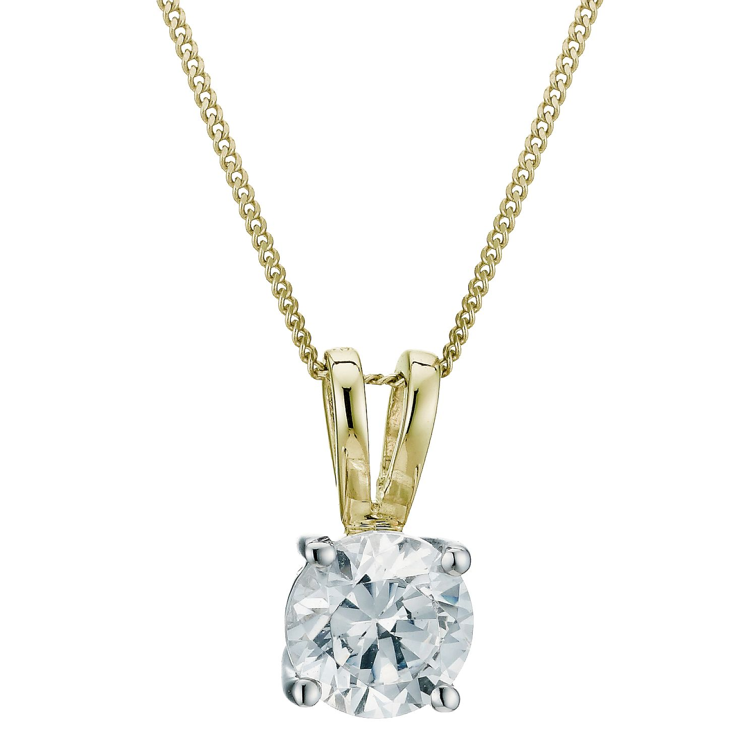 18ct Yellow Gold 0.75ct F/G Vs2 Diamond Pendant - Product number 6008798
