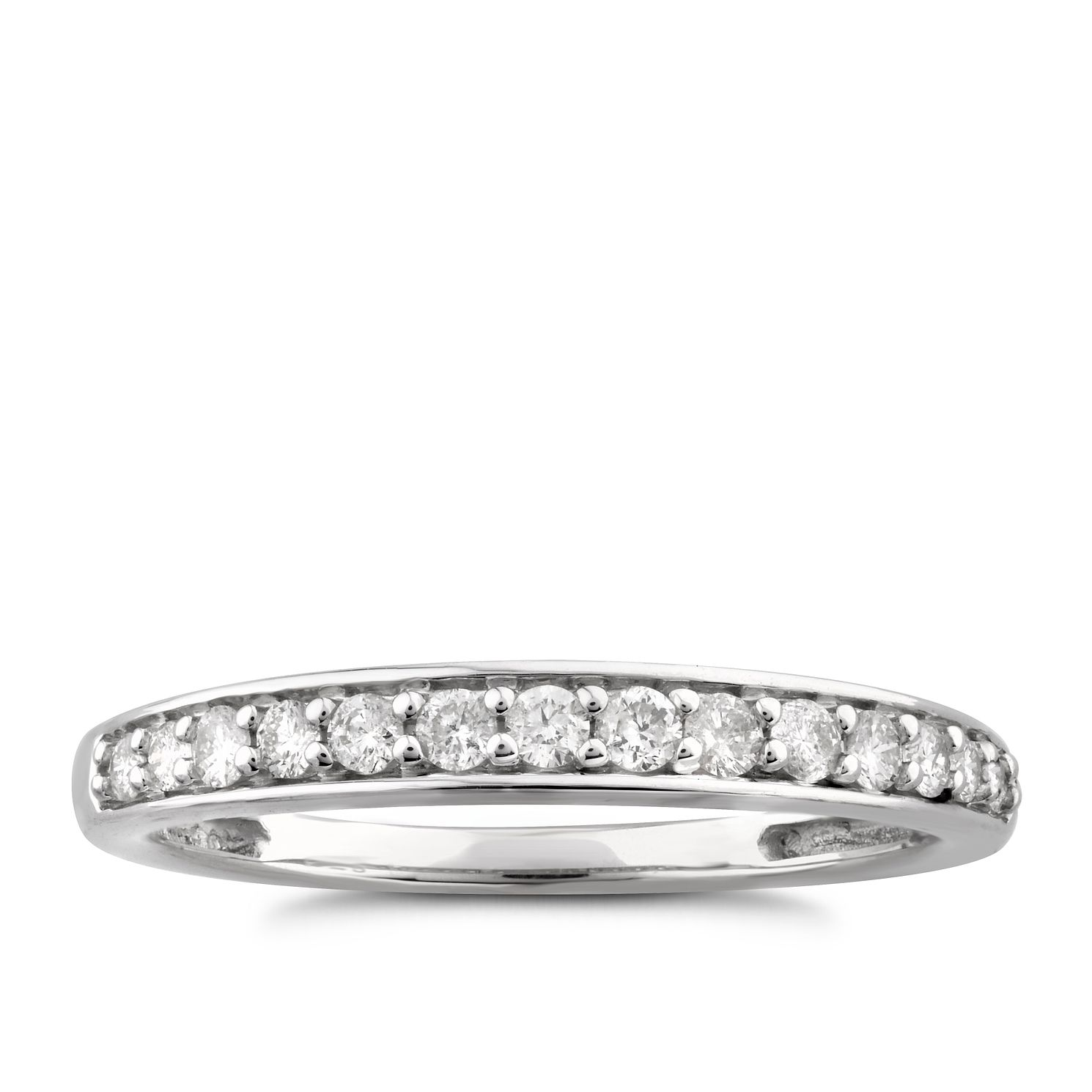 Perfect Fit 9ct White Gold 0.24ct Diamond Band Ring - Product number 6010377