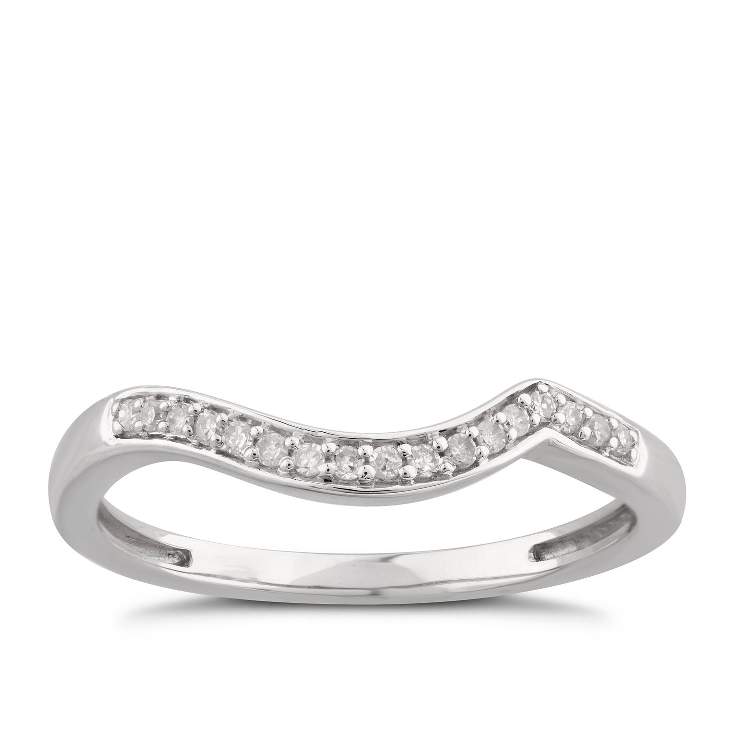 Perfect Fit 9ct White Gold Diamond Shaped Band Ring - Product number 6010571