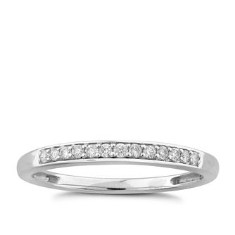9ct White Gold Diamond Perfect Fit Band Ring - Product number 6010946