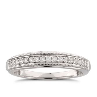 9ct White Gold 0.14ct Diamond Perfect Fit Band Ring - Product number 6011357
