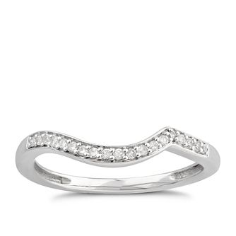 Perfect Fit 9ct White Gold Diamond Shaped Band Ring - Product number 6011551