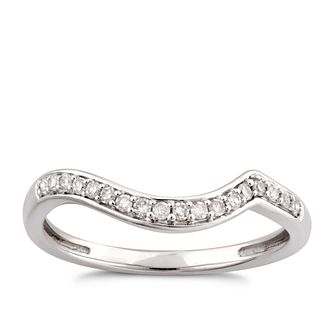 9ct White Gold 0.12ct Diamond Perfect Fit Shaped Band Ring - Product number 6011748