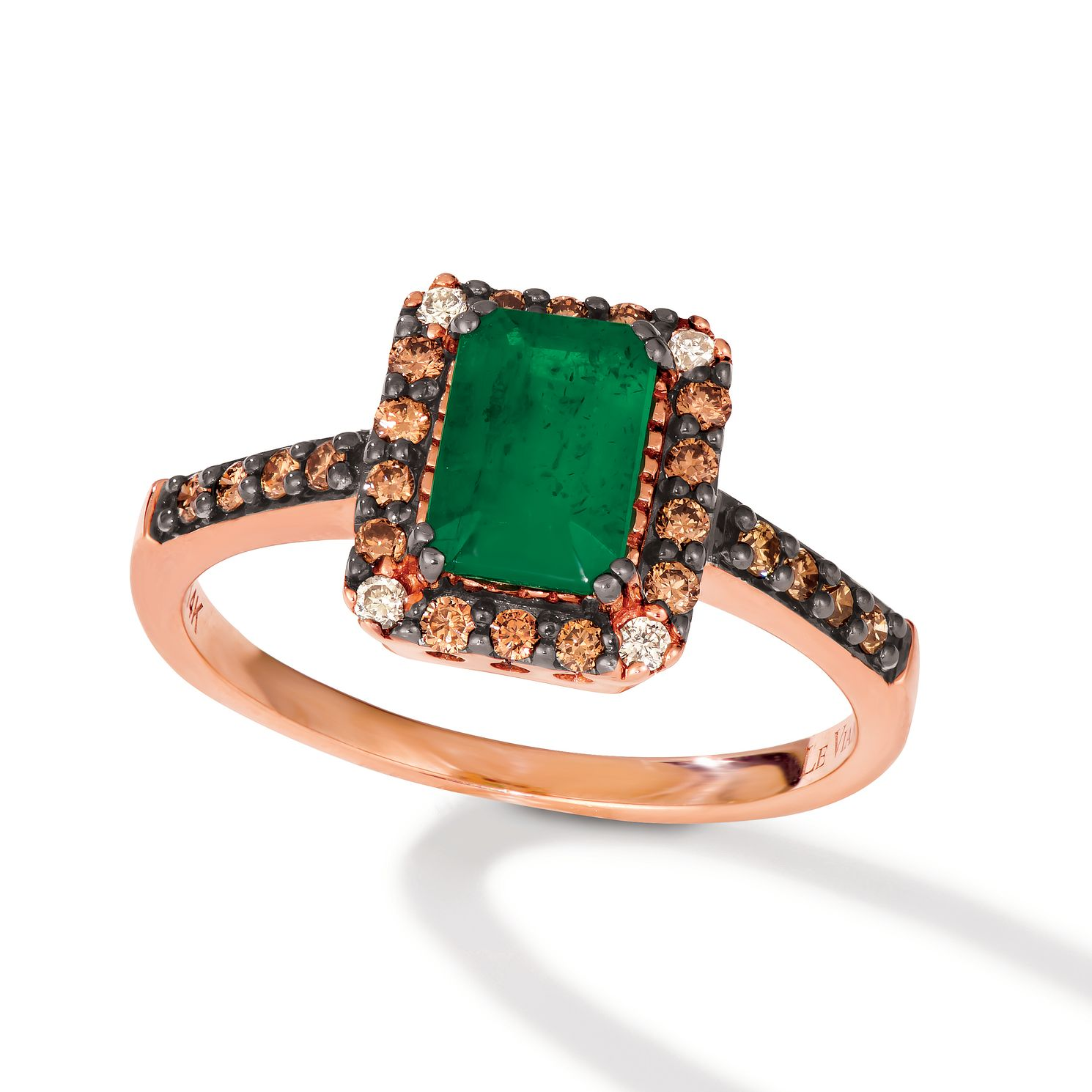 Le Vian 14ct Strawberry Gold Smeralda Emerald & Diamond Ring - Product number 6012620