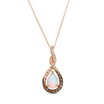 Le Vian 14ct Strawberry Gold Neopolitan Opal Diamond Pendant - Product number 6013112