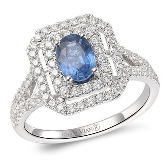 Le Vian 14ct Vanilla Gold Blueberry Sapphire & Diamond Ring - Product number 6015557