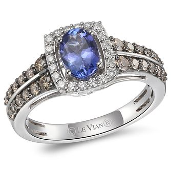Le Vian 14ct Vanilla Gold Blueberry Tanzanite & Diamond Ring - Product number 6015697