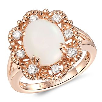 Le Vian 14ct Strawberry Gold Neopolitan Opal Diamond Ring - Product number 6015832