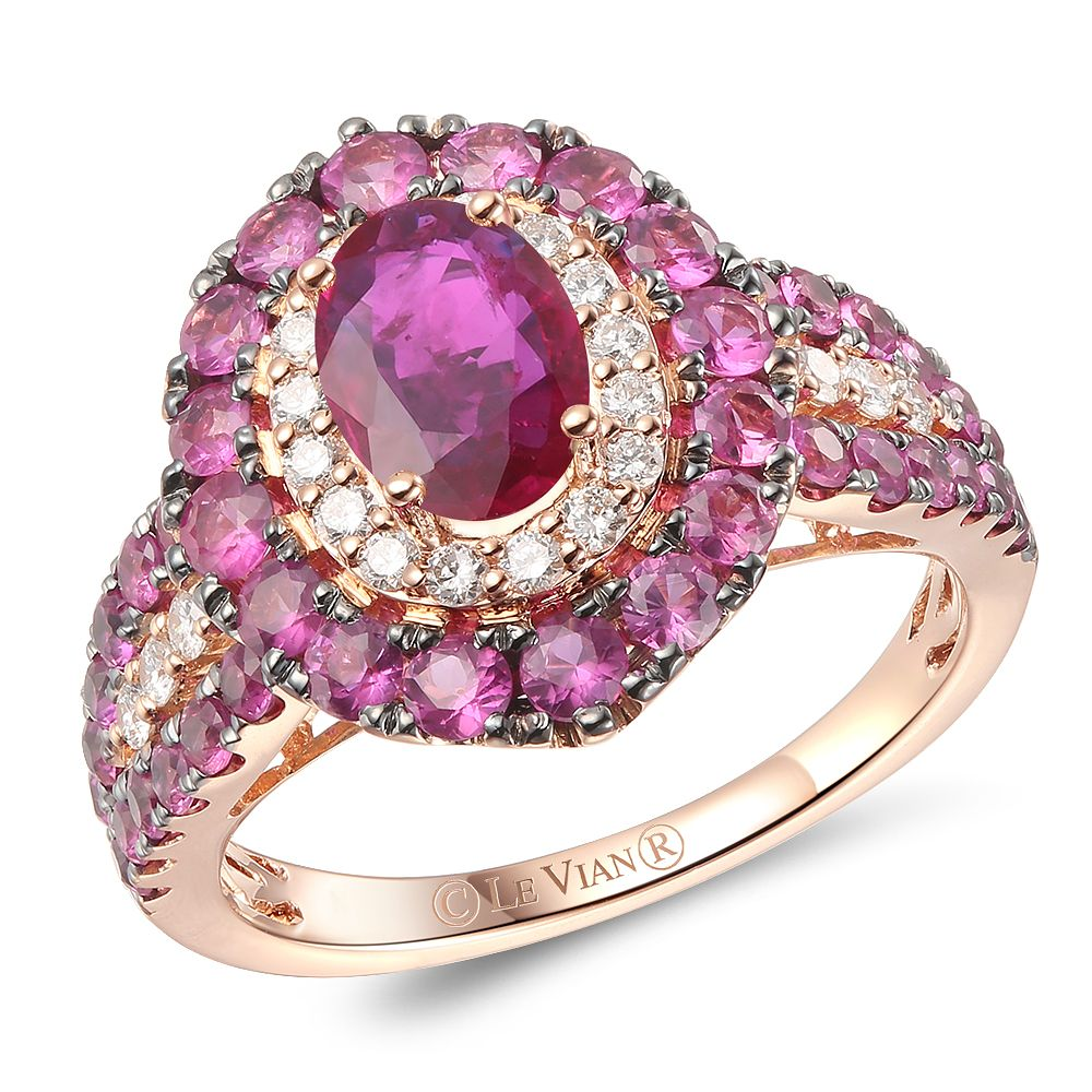 Le Vian 14ct Strawberry Gold Passion Ruby & Diamond Ring - Product number 6017207