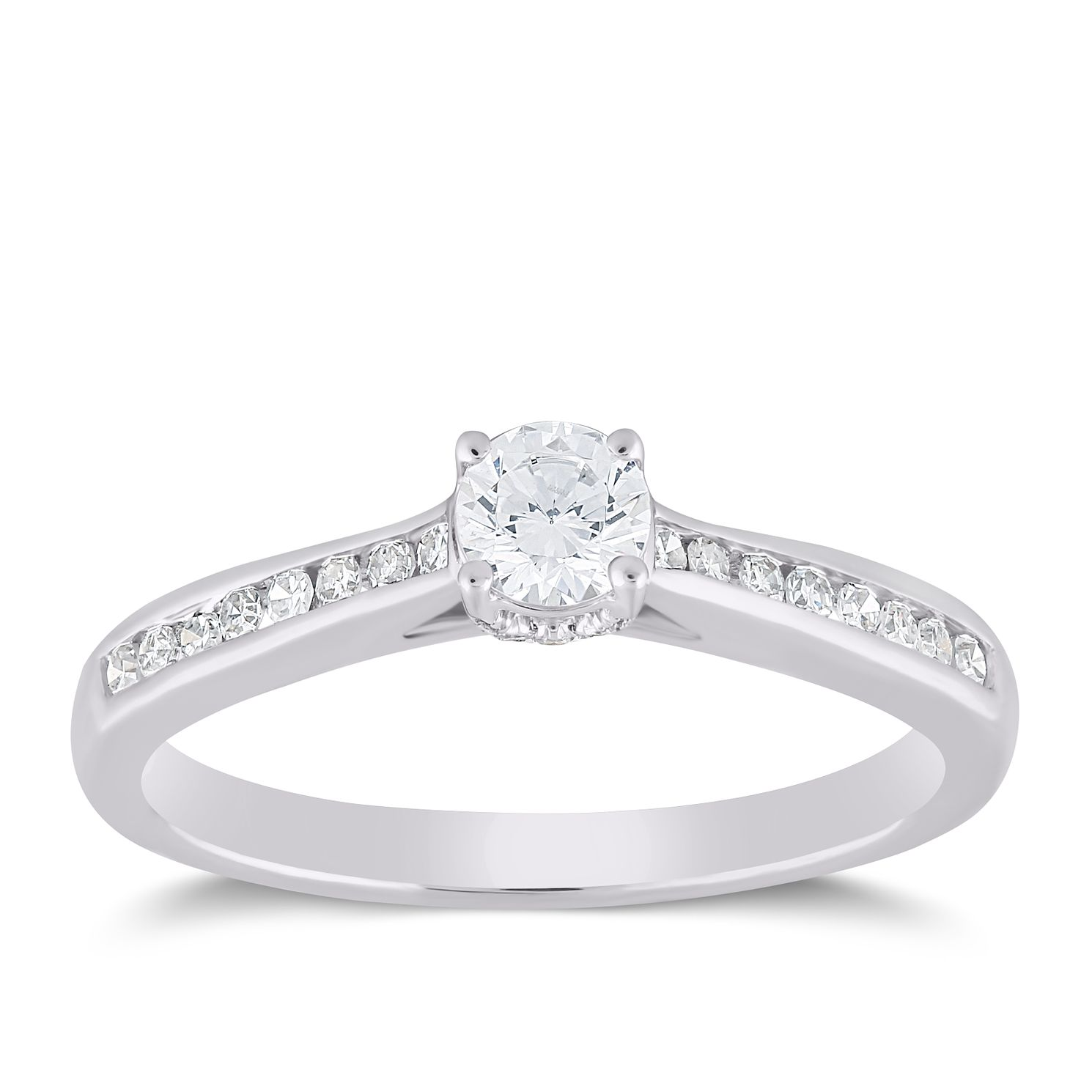 18ct White Gold 2/5ct Forever Diamond Ring - Product number 6017363
