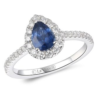 Le Vian 14ct Vanilla Gold Blueberry Sapphire & Diamond Ring - Product number 6017975