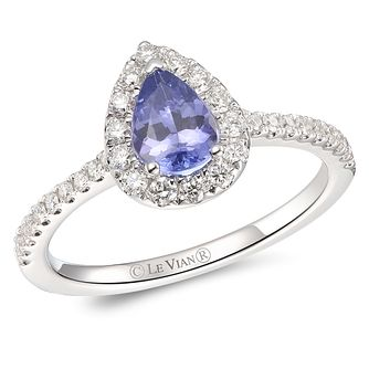 Le Vian 14ct Vanilla Gold Blueberry Tanzanite & Diamond Ring - Product number 6018238