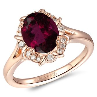 Le Vian 14ct Strawberry Gold Rhodolite & Nude Diamond Ring - Product number 6018858