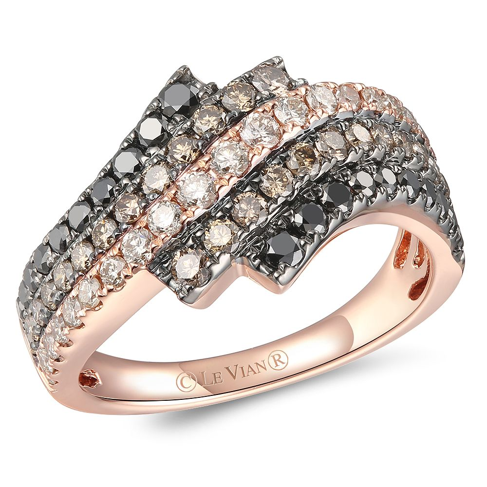 Le Vian 14ct Strawberry Gold Layer Cake Diamond Ring - Product number 6019315