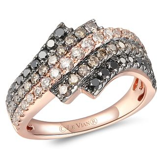 Le Vian 14ct Strawberry Gold Layer Cake 1.14ct Diamond Ring - Product number 6019315